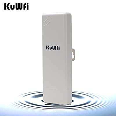 KuWFi Waterproof Wireless Outdoor CPE 1000mW Outdoor 2KM Distance 150Mbps Outdoor Wireless Access Point CPE Router with POE adapter WIFI Bridge