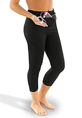 YANA Women's 2-in-1 Running Tights with Front and Back, Water-Resistant Pockets.
