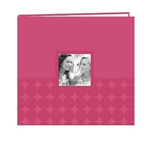 "Pioneer Embossed Post Bound Scrapbook Album 12""X12""-Pink Circles"