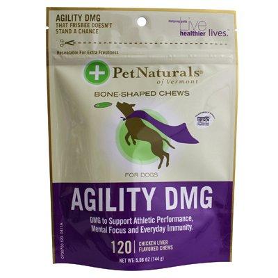 Pet Naturals Of Vermont Agility Dmg Bone Shaped Chews F Original Dogs Chicken Liver - 120 Chewables