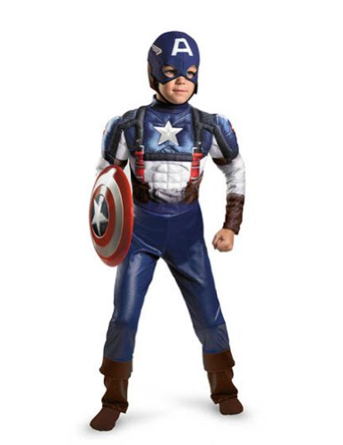 Halloween Costumes Item - Captain America Muscle 10-12