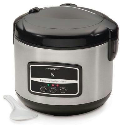 Presto 05813 16-Cup Digital Stainless Steel Rice Cooker/Steamer by Presto
