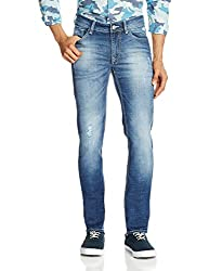 Flying Machine Mens Skinny Fit Jeans (8907378339485_FMJN7813_30W x 33L_Blue)