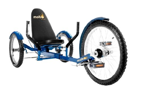 Mobo Cruiser Triton Pro Ultimate Three Wheeled Cruiser, Blue, 20-Inch (Adult Three Wheel Bike compare prices)