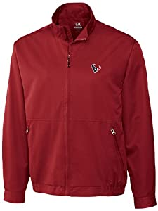 NFL Houston Texans Mens CB WeatherTec Whidbey Jacket, Cardinal Red by Cutter & Buck