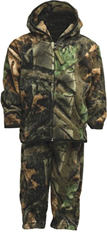 Trail Crest Toddler Two Piece Fleece Jacket & Pants Set, 2T, Camo