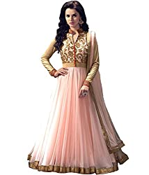 Unique Collection Women's Georgette Dress material (Pink)
