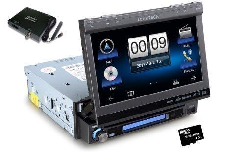 Icartech Aurora G7 Système de navigation et de radio numérique pour voiture 1 DIN Transistor en couche mince avec récepteur DAB+ DAB200 Comprend caméra de recul/DVD/MP3/USB/SD/GPS avec cartes européennes/fonction mains-l