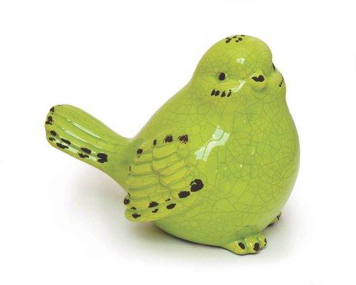 Fountasia International Ceramic Bird - Green