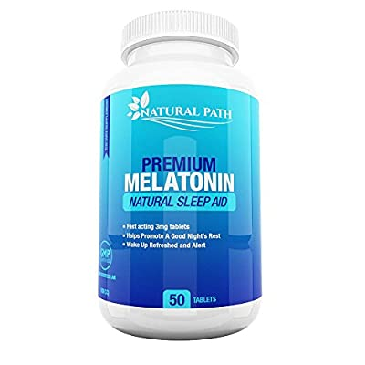 Melatonin 3mg Tablets - Best Sleep Aid For Adults - Deep Sleep Supplement - Sleeping Pills That Work Fast - 100% Pure & Natural - 50 Chewables