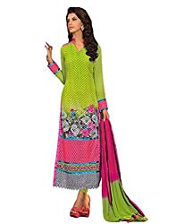 Inddus Womens Georgette Unstitched Dress Material (Ind-Mm-1101 _Green)