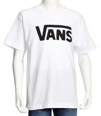 Vans - B VANS CLASSIC BOYS WHITE/BLACK - T-shirt - Garçon - Multicolore (White/Black) - Small