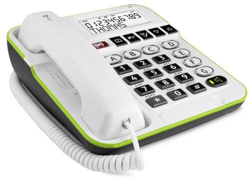 Doro Secure 350 Telefono a filo con tasti grandi e tasto di emergenza, Bianco