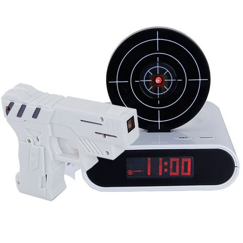 Gun Target Alarm Desk Clock Gadget / A Funny Game Mode to Let You Enjoy Shooting Practise