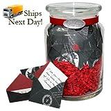 KindNotes Jar of Messages in Mini Envelopes - Love