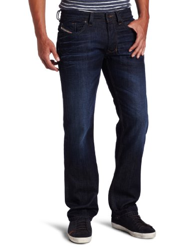 Diesel Men's Larkee Regular Straight Leg 0073N Jean, Denim, 34x36