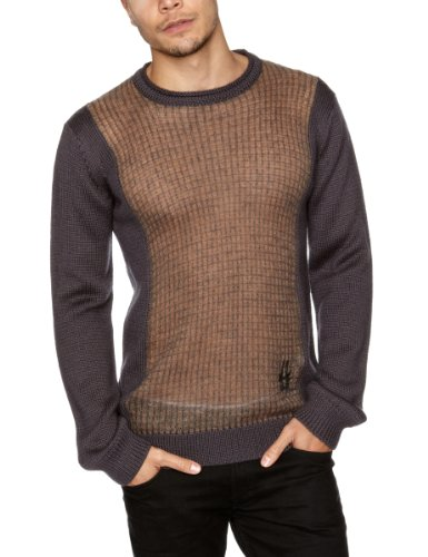 Bolongaro Trevor Raw Men's Jumper Goat And Charcoal X-Large