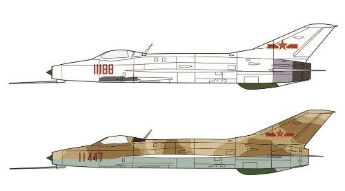 172-j-7-china-air-force-zwei-flugzeuge-set-02102