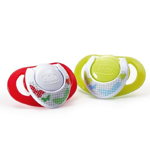 Chicco NaturalFit Deco Orthodontic BPA and LATEX FREE Pacifiers (4+ Months, Neutral)