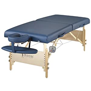 """Master Massage 30"""" Coronado Therma Top LX Portable Massage Table Package, Royal Blue (Includes FREE Carrying Case, Bolster, Spa Music CD's and Pillow Covers)"""