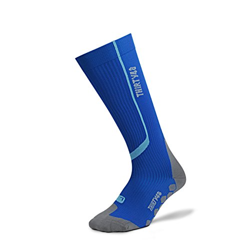 Thirty48 Graduated Compression Socks For Performance; Catalystaf Design; Arch Support; 1 Pair; Maximize Faster Recovery By Increasing Oxygen To Muscles; Great For Running, Cycling, Walking, Basketball, Football Soccer, Cross Fit, Travel; Money Back Guaran