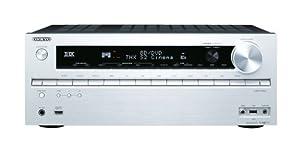 Onkyo TX-NR717 7.2-Kanal AV-Netzwerk-Verstärker (THX Select 2 Plus, 3D, 4K, Musikdienste, Remote App, 170 W/Kanal) silber