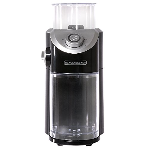 BLACK+DECKER CBM310BD Burr Mill Coffee Grinder, Black
