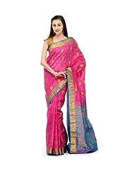Magenta Silk Saree - B00NFN9FUU