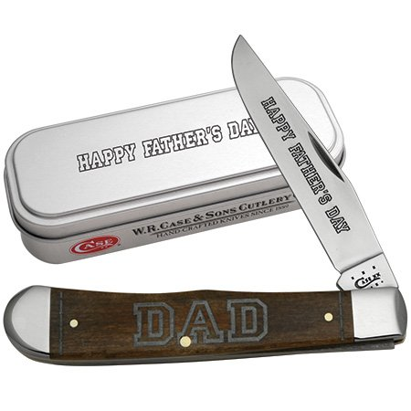 Case Xx Knife Item # 10544 2014 Father'S Day Brown Smooth Bone Trapper