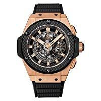 Hublot King Power Unico King Gold Carbon Automatic Chronograph 18K Gold - 701.OQ.0180.RX by Hublot