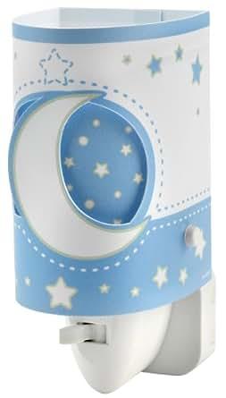 Amazon.com: Dalber Veilleuse LED - Modèle Lune - Bleu / Blanc: Home