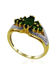 JewelryKarigiri Yellow Russian Chrome Di With CZ Ring For Women