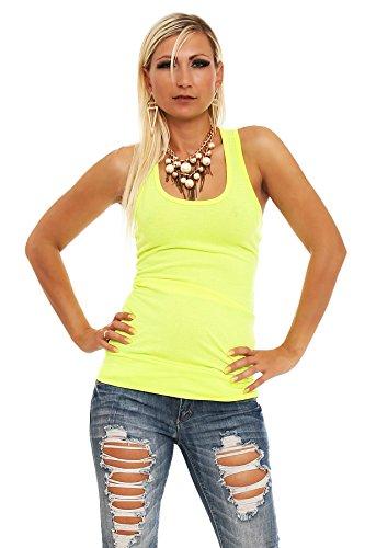 5425 Fashion4Young Damen Sexy Tailliertes Top Gr. 34 36 38 in 4 Neon-Farben verfügbar
