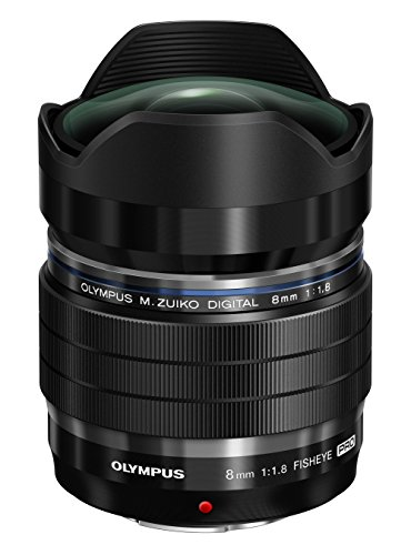 OLYMPUS フィッシュアイレンズ M.ZUIKO DIGITAL ED 8mm F1.8 Fisheye PRO マイクロフォーサーズ用 単焦点魚眼 EF-M0818PROBLK