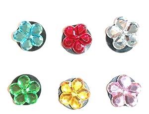 6 St. Satz des Schuh Schmucken Kristall Blume
