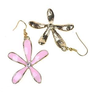 BestDealUSA Korea Style Pink Five Leaves Flower Earrings Hot from BestDealUSA