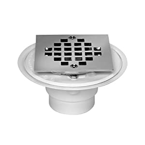 Oatey 42237 Pvc Shower Drain With Snap Tite Square Top