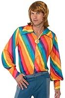 Smiffy's 1970s Rainbow Colour Shirt