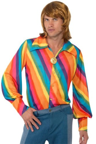 Smiffy's 1970's Rainbow Colour Shirt - Large