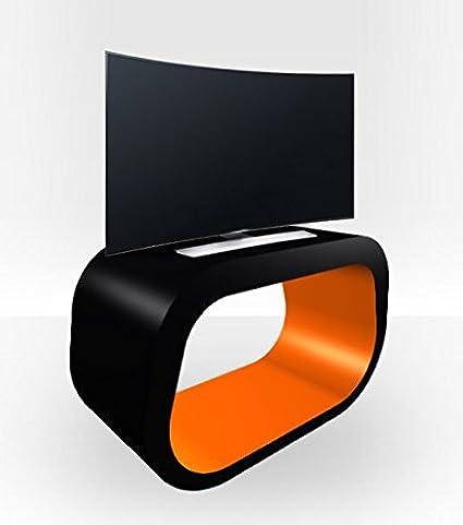 Außen schwarz SQUOVAL TV Ständer Orange glänzend