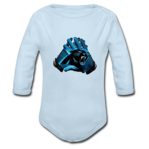 NuWaWa NFL Carolina Panthers Applauded Angel Little Baby Onesies(18 Months)