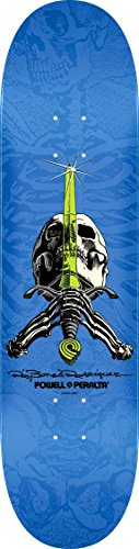 Powell-Peralta Ray Rodriguez Skull & Sword Deck, Blue