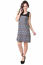 NOD Pamela Blue & Orange Amulet Net Dress, Medium