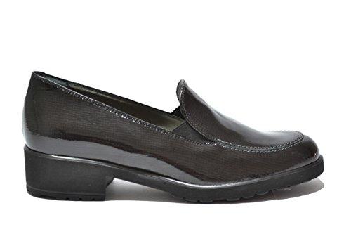 Melluso Mocassini scarpe donna nero saffiano R3110 40