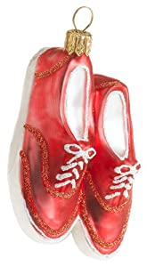 Ornaments to Remember: BOAT/DECK/TENNIS SHOES (CORAL) Christmas Ornament