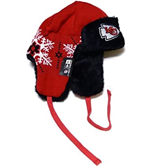 NFL Kansas City Chiefs Snowflake Trapper Winter Hat