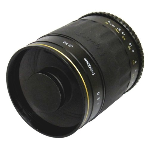 Opteka 500mm f/8 Telephoto Mirror Lens for Canon EOS 1D, 5D, 6D, 7D, 10D, 20D, 30D, 40D, 50D, 60D, 100D, 300D, 350D, 400D, 450D, 500D, 550D, 600D, 700D, 1000D, 1100D & 1200D Digital SLR Cameras