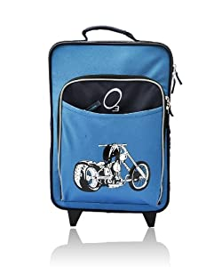 O3 Kids Rolling Luggage with Integrated Snack Cooler, Motorcycle by O3
