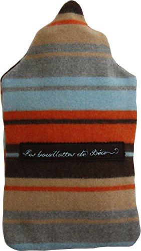 Les bouillottes de bea bouillotte traditionnelle ray e orange bleu marron - Les bouillottes de bea ...