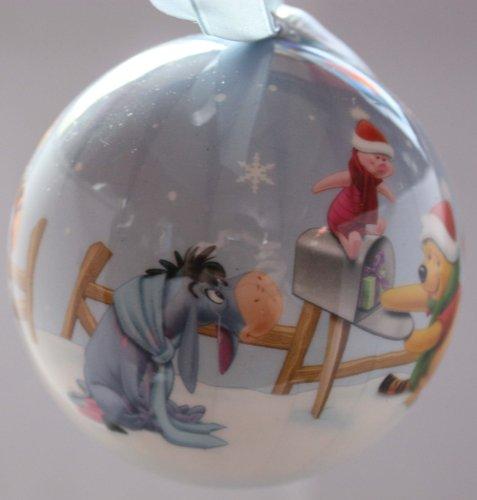Disney Winnie The Pooh Xmas Scene 75mm Christmas Bauble